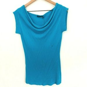 NWT! The Limited Drape Neck Knit Short Sleeve Top